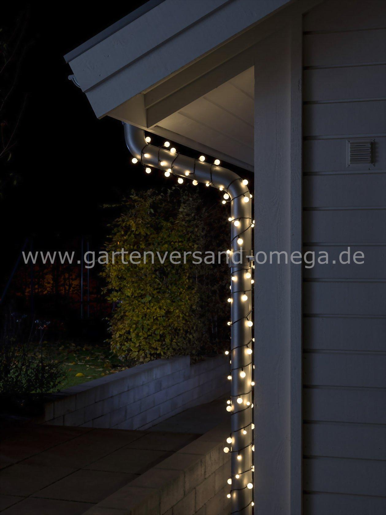 led globelichterkette kleine und gro e dioden warm wei kugellichterkette lichterkette mit. Black Bedroom Furniture Sets. Home Design Ideas