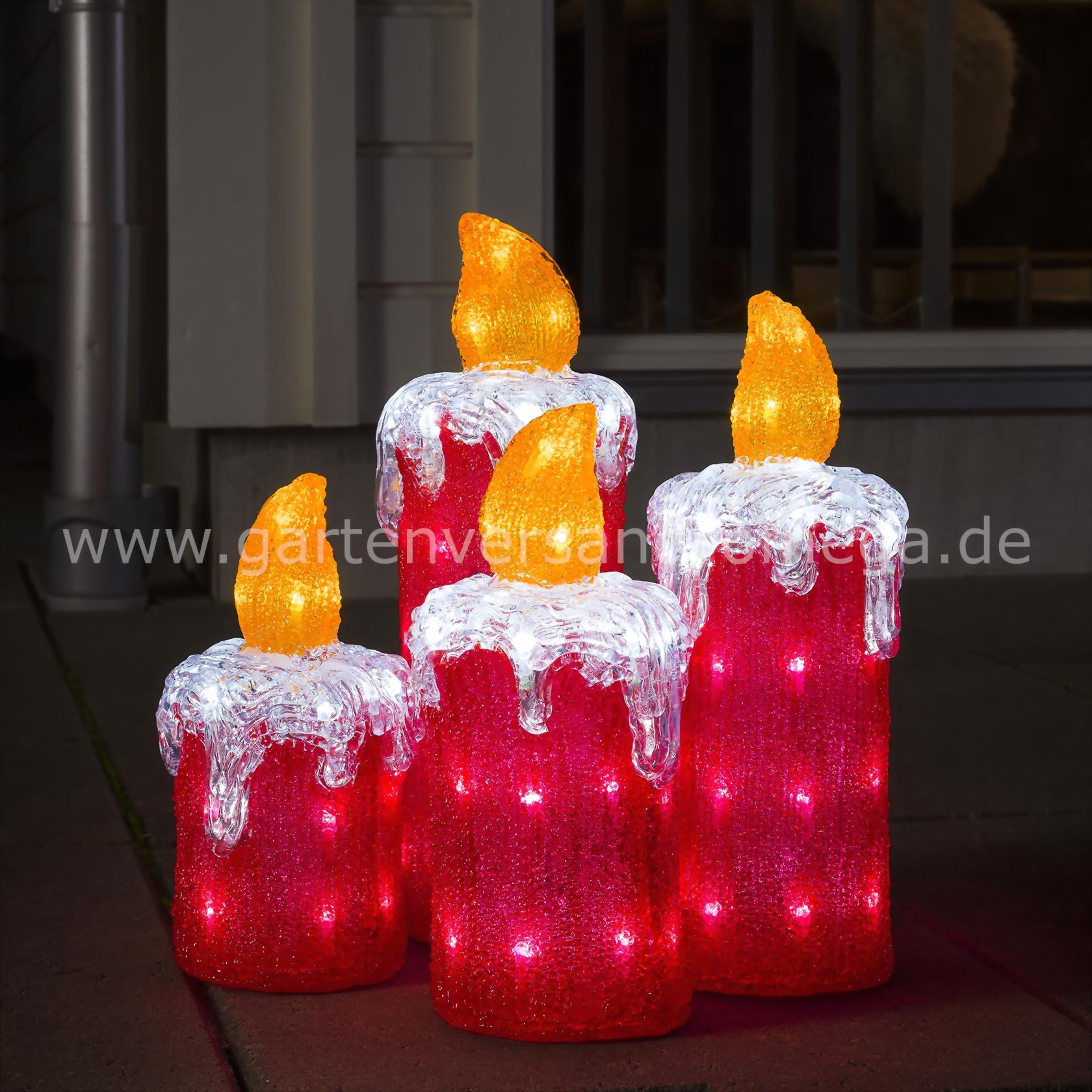 led acryl adventskerzen adventskerzen garten. Black Bedroom Furniture Sets. Home Design Ideas