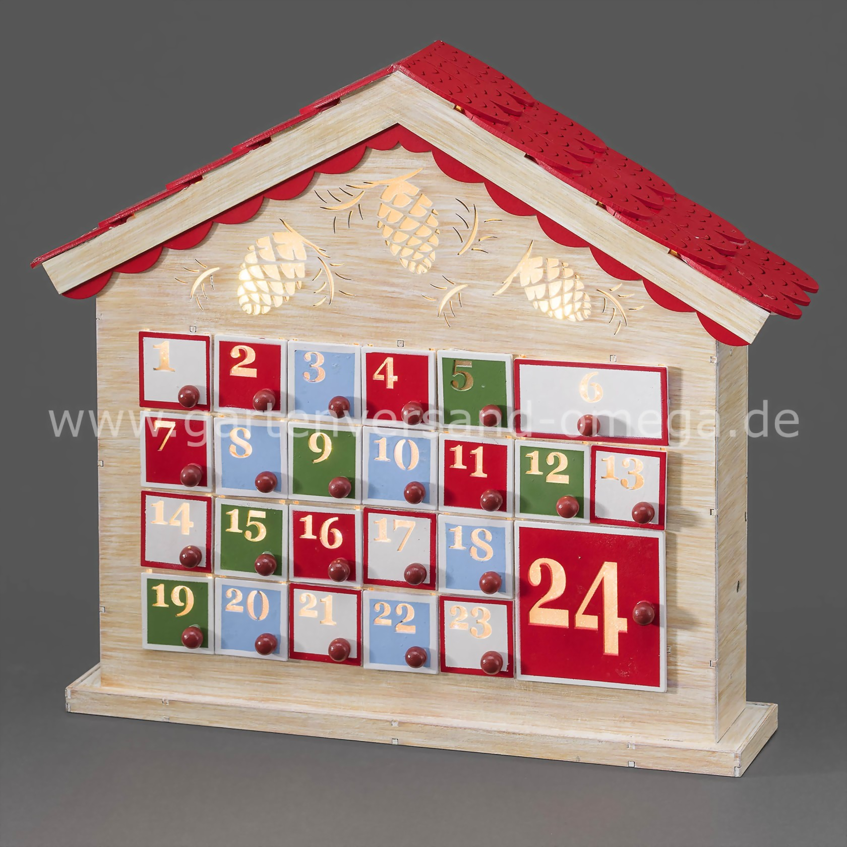 led holz adventskalender beleuchteter adventskalender. Black Bedroom Furniture Sets. Home Design Ideas
