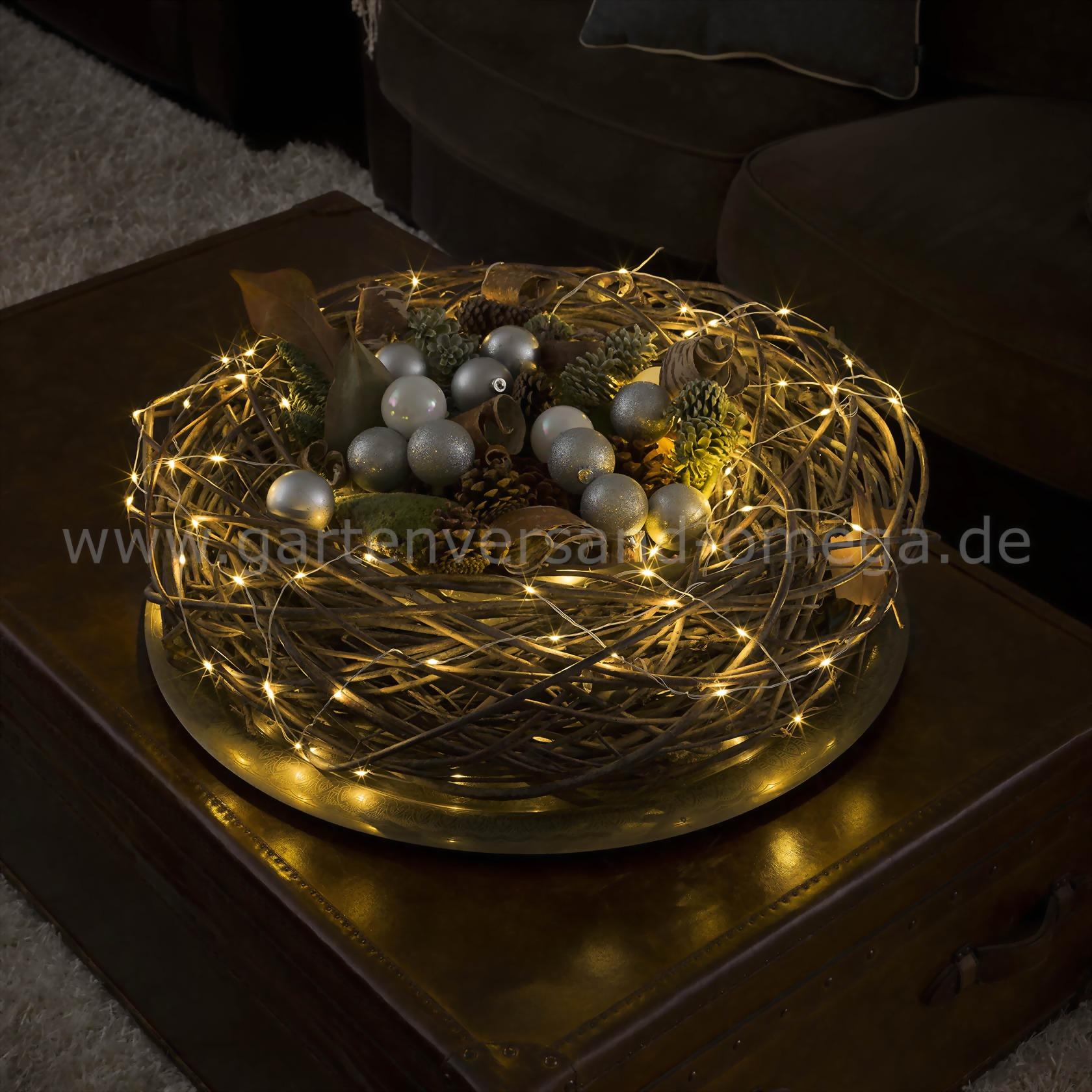 led tropfenlichterkette warm wei mit wei em drahtkabel zur dekorationsbeleuchtung f r. Black Bedroom Furniture Sets. Home Design Ideas