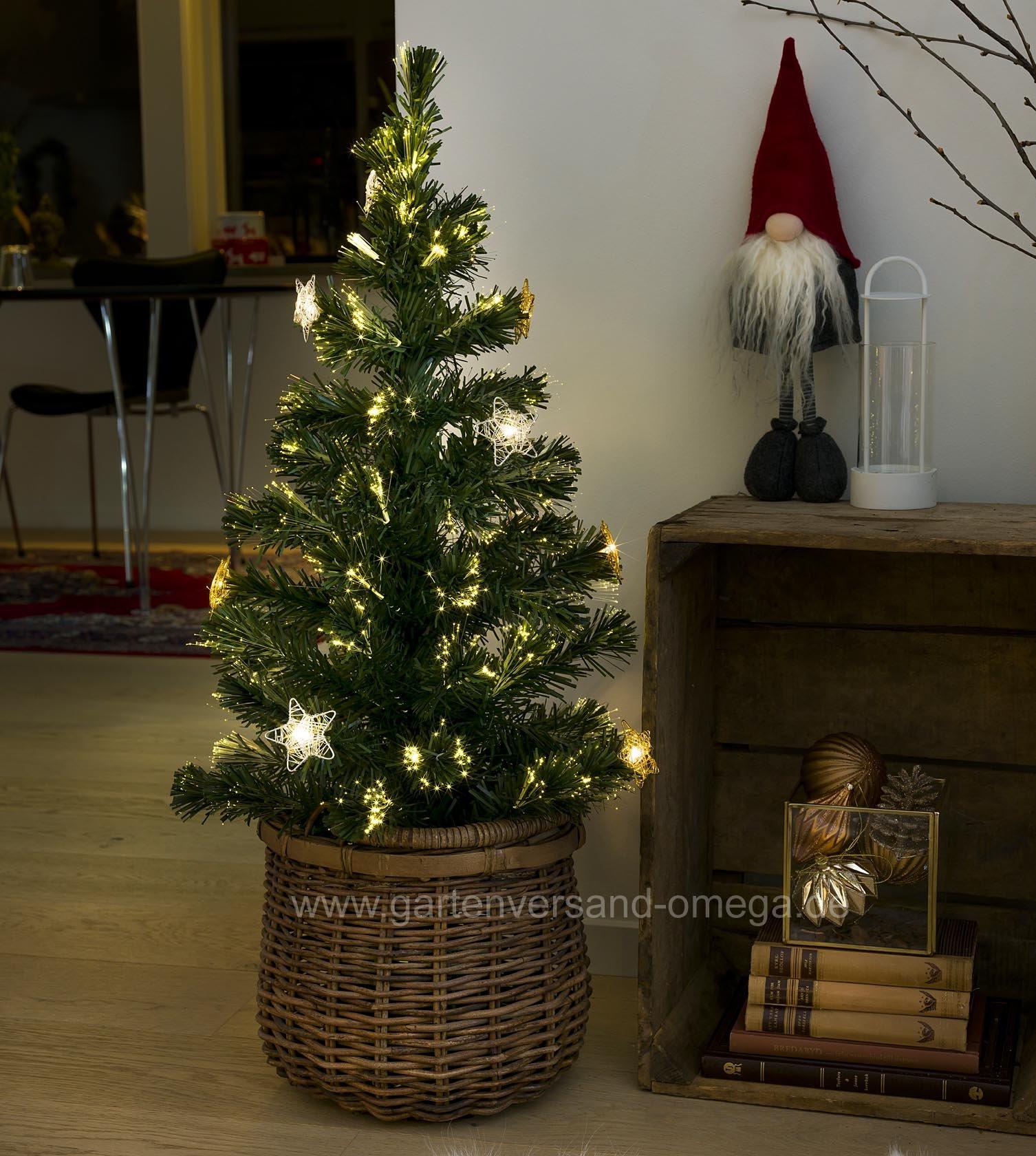 led fiberoptik weihnachtsbaum 90cm gr n deko. Black Bedroom Furniture Sets. Home Design Ideas