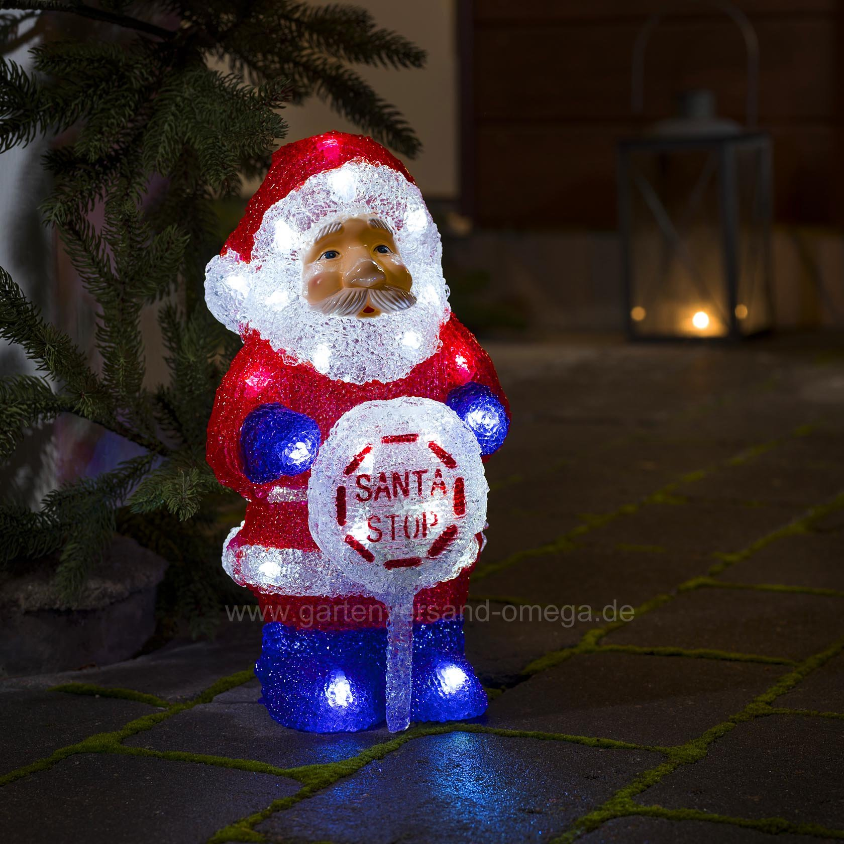 Weihnachtsbeleuchtung Figuren Led.Led Acrylfigur Weihnachtsmann Batteriebetrieben Batterie Led