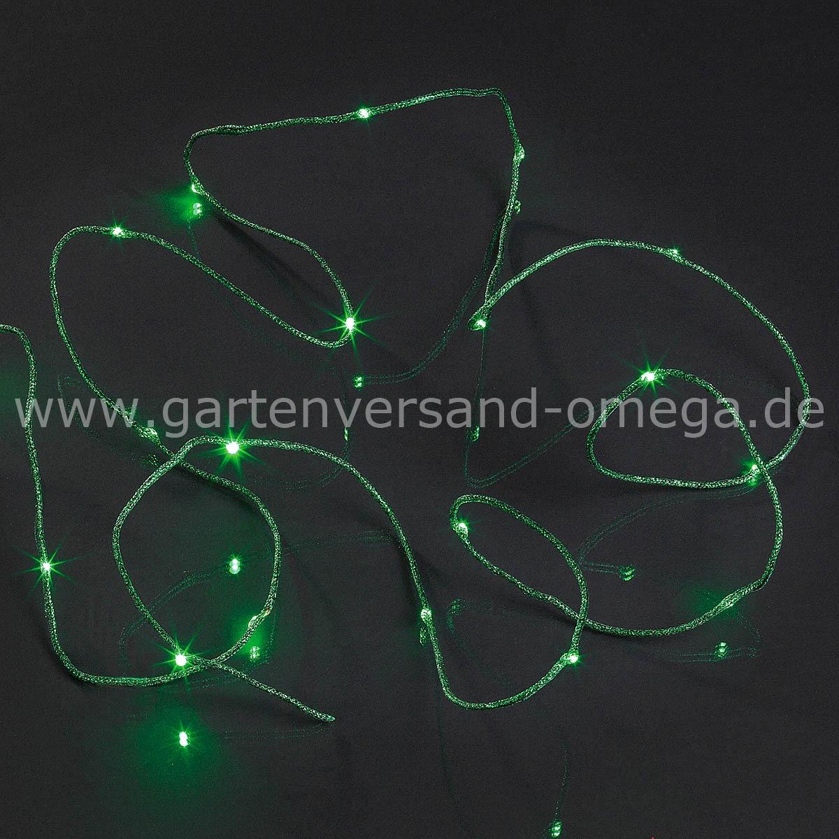 Batteriebetriebene LED-Lichterkette mit farbigem Drahtkabel - LED ...