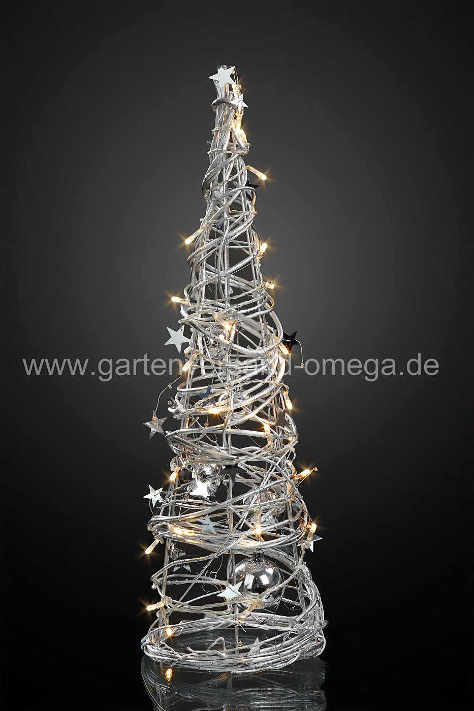 led pyramide mit silbernen kugeln weihnachtspyramide dekopyramide weihnachtstrend led. Black Bedroom Furniture Sets. Home Design Ideas