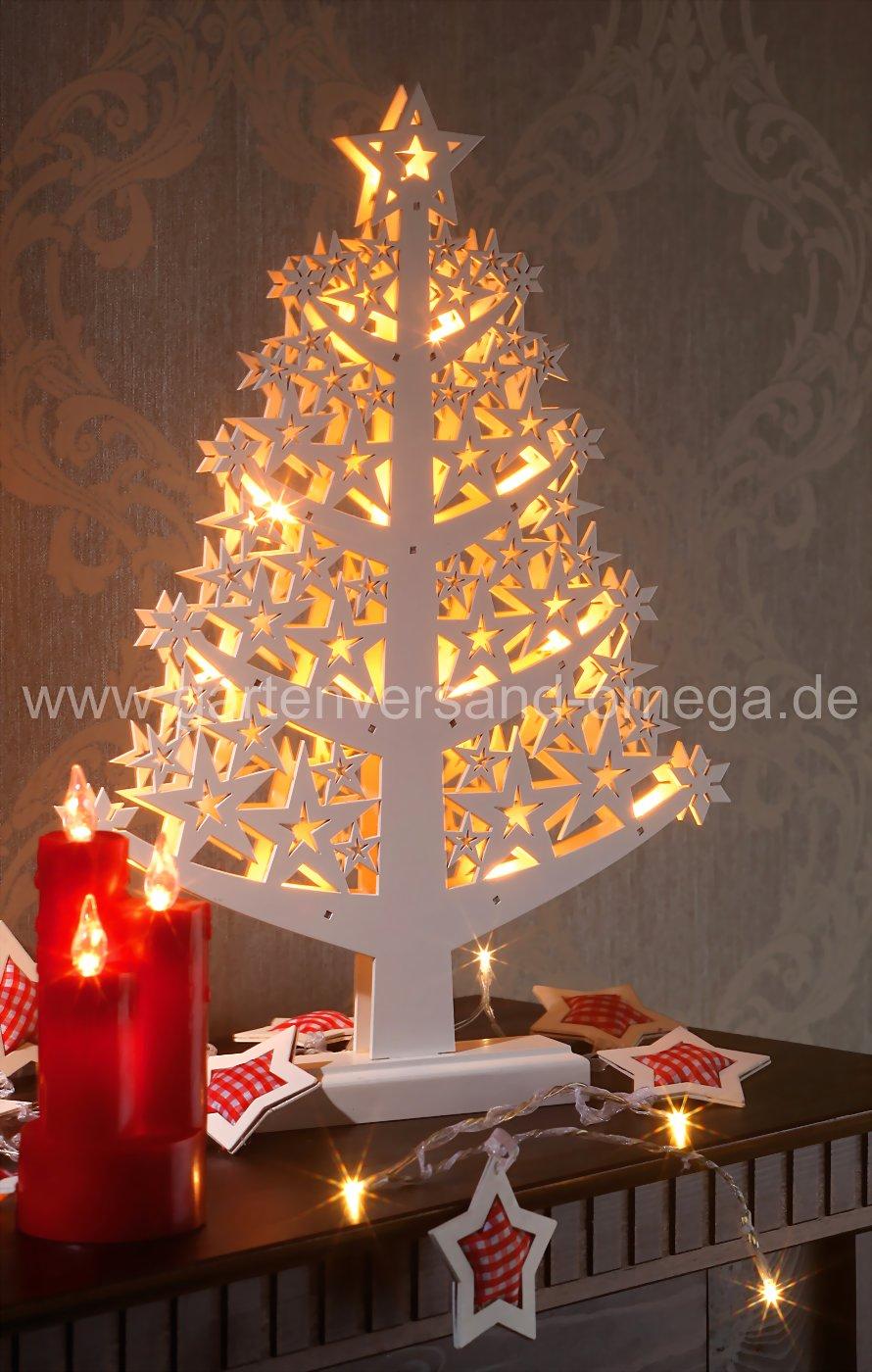 LED-Holzbaum - Weihnachtsinnenbeleuchtung, beleuchtete ...